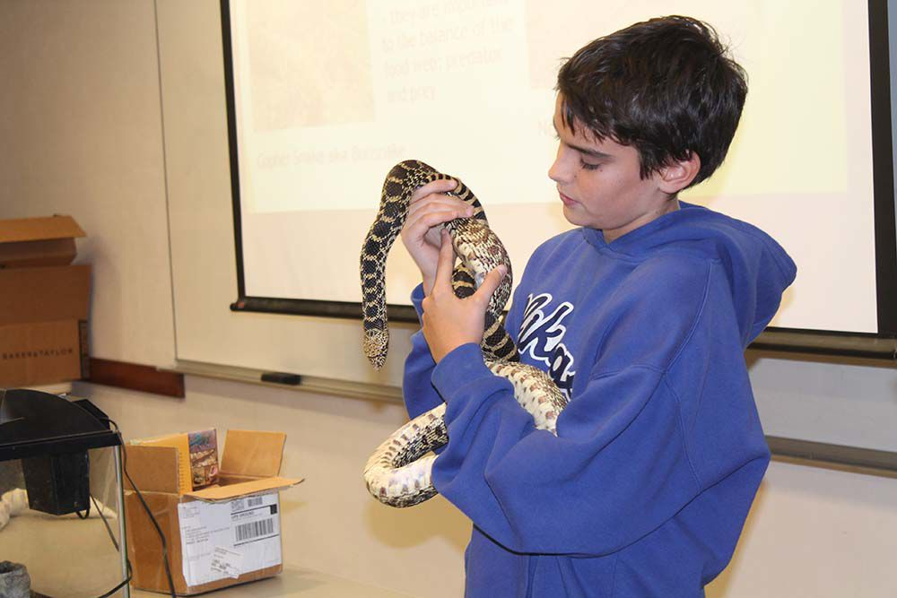Young teen who removes snakes shares his knowledge