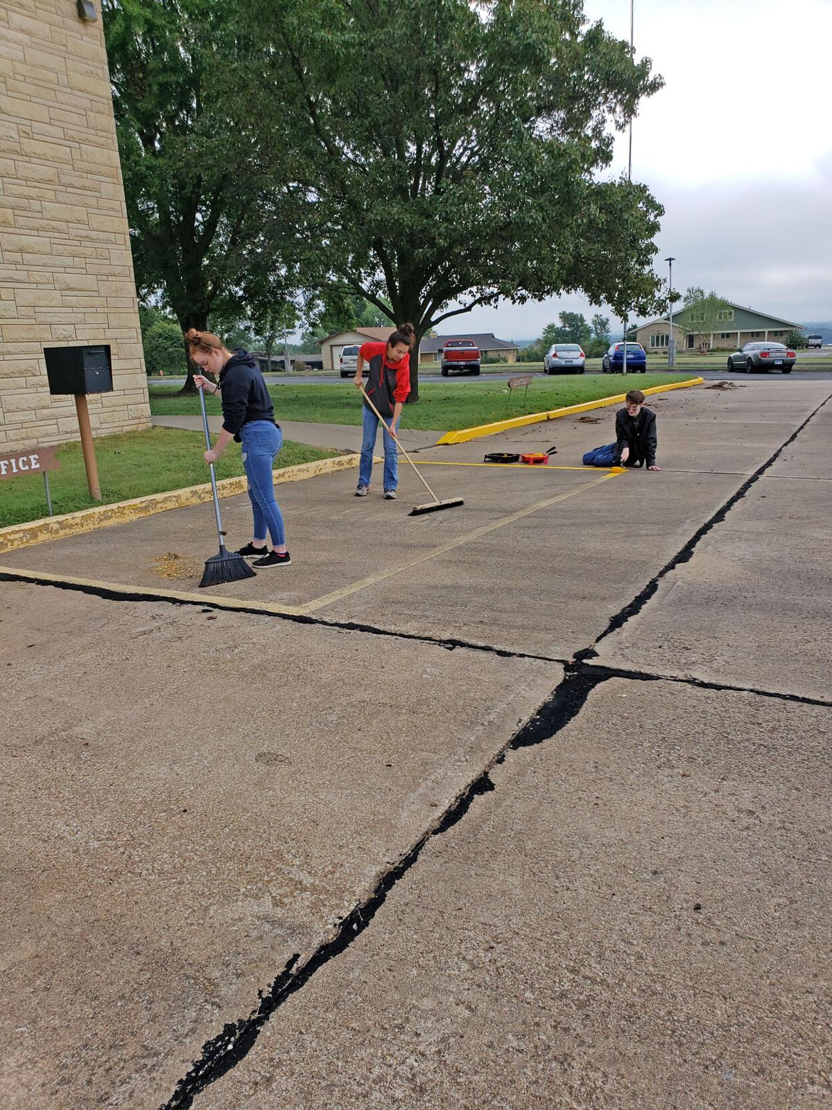 ACES help to beautify Cowley State Fishing Lake and parking lot