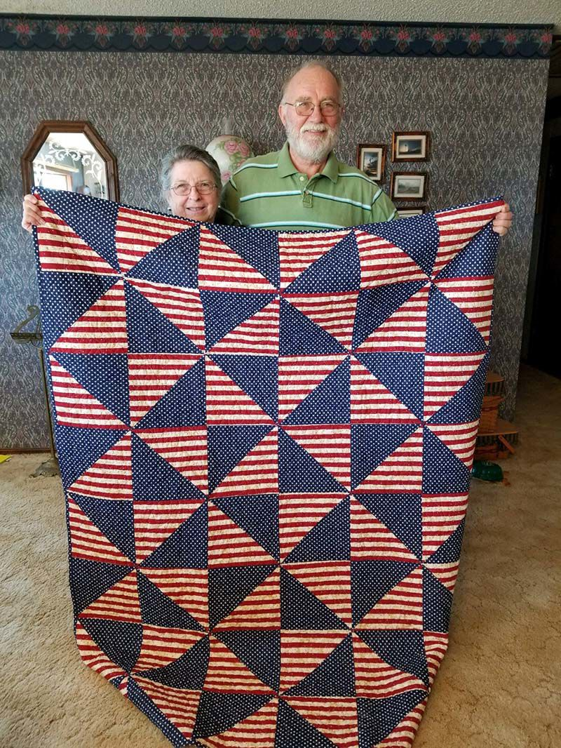 Headrick And Maerz Presented With Quilt Of Valor Celebrations