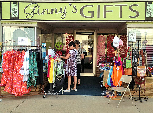 Downtown Sidewalk Sale at Ginny's Gifts & Apparel