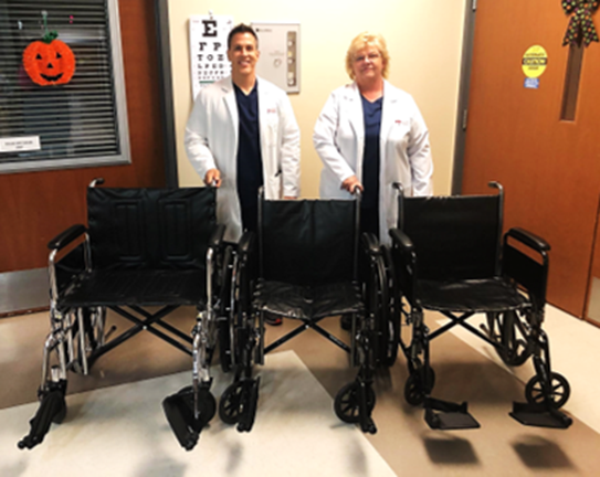 Wheelchairs donated to Ark City hospital