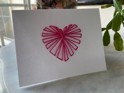 WPL offers string-art notecards grab-and-go craft
