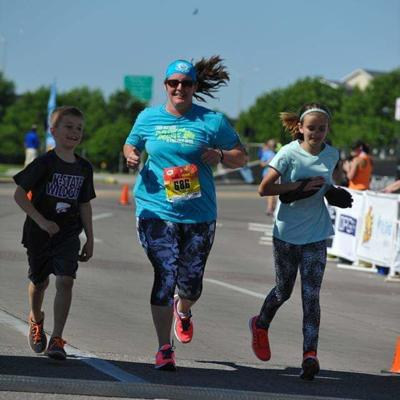 Winfield art teacher RyAnn Myers, 39, finds solace in running long distances