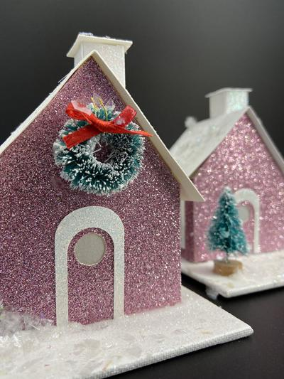 Winfield Public Library offers grab & go craft glitter house kit for adults