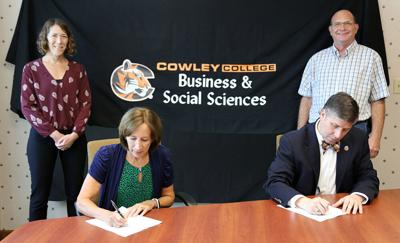 Cowley and WSU sign 2-Plus-2 agreement in anthropology