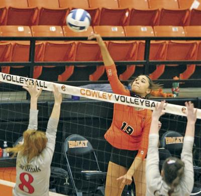 Lady Tigers pull even with sweep