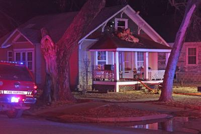 House fire damages second story
