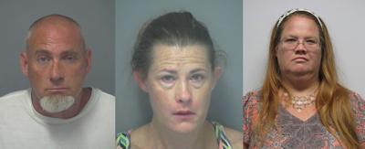 Three arrested for methamphetamine