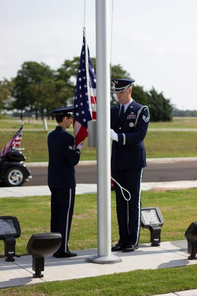 Flag dedication at Cowley College Sumner Campus