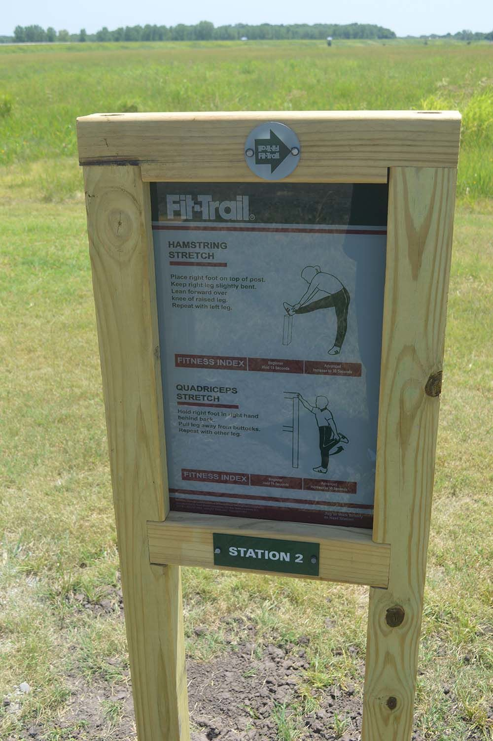 Fitness stations installed along Ark City walk trail