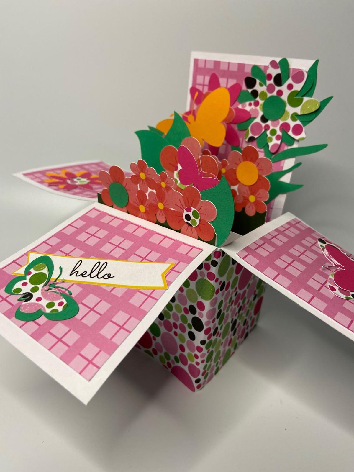 Library's latest Grab & Go craft is a pop-up box card