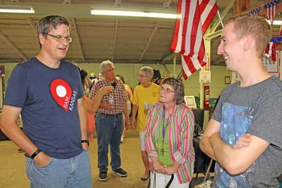 Candidate for Secretary of State visits fair