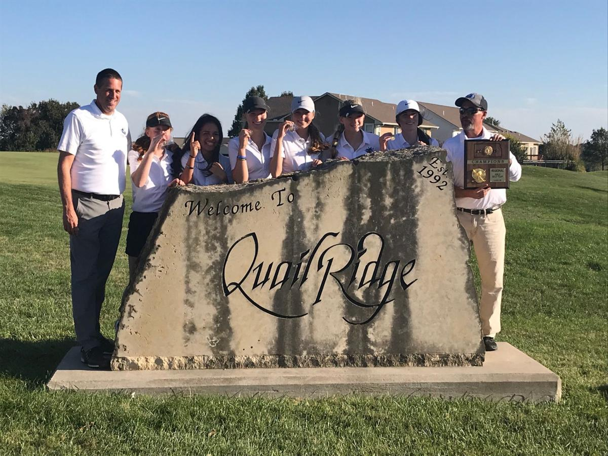 Regional champion Elly Bertholf leads Lady Vikings to the 4A Regional title