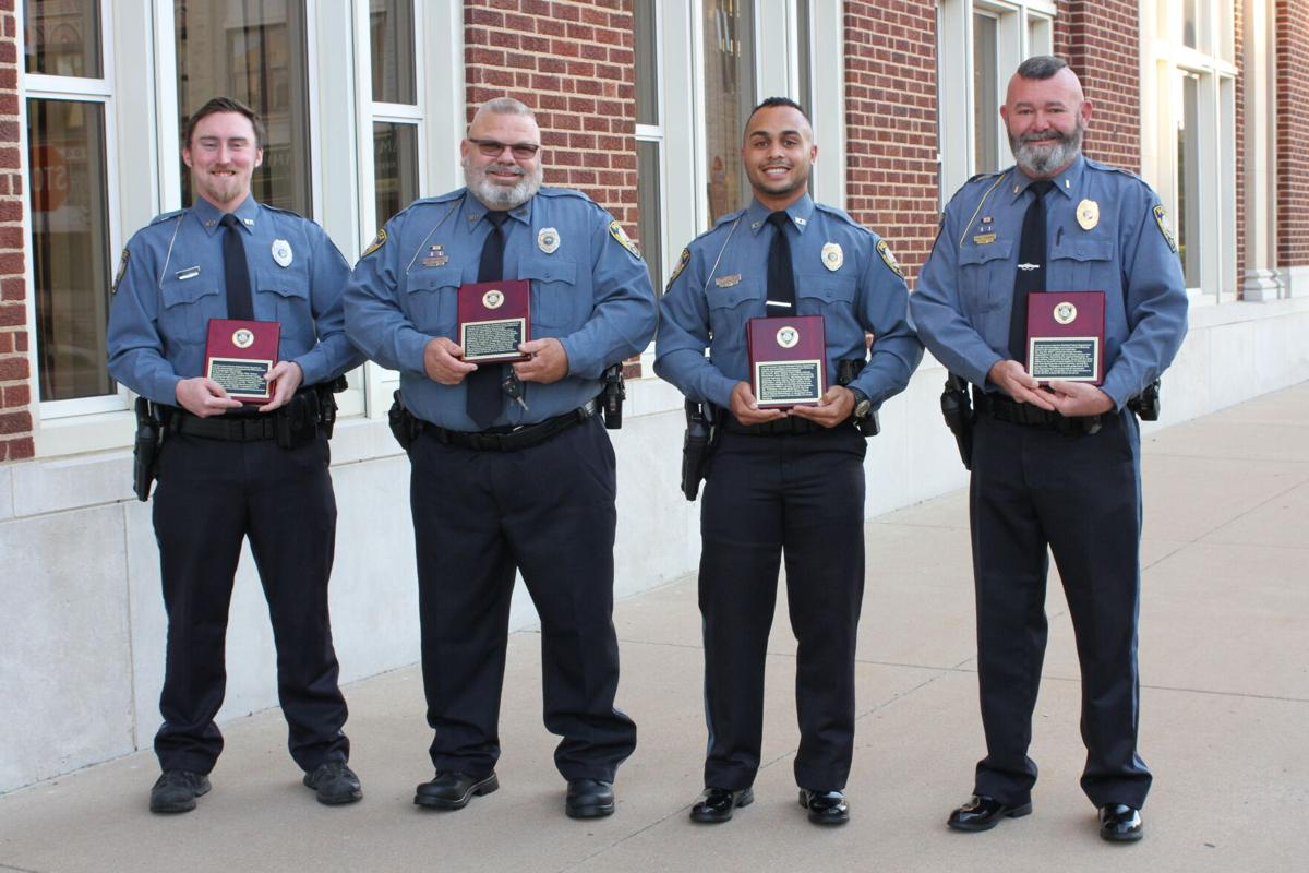 Officers awarded, sworn in