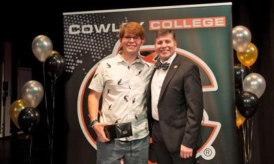 Trevor McDowell joins his sister as Cowley College Students of the Year