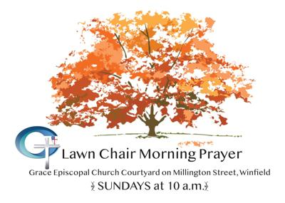 Lawn Chair Morning Prayer offered in Winfield