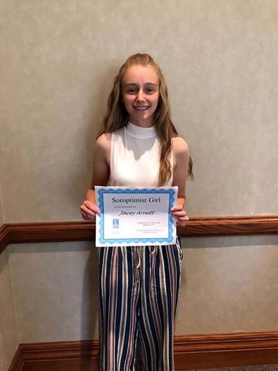 Arnett awarded September Soroptimist Girl
