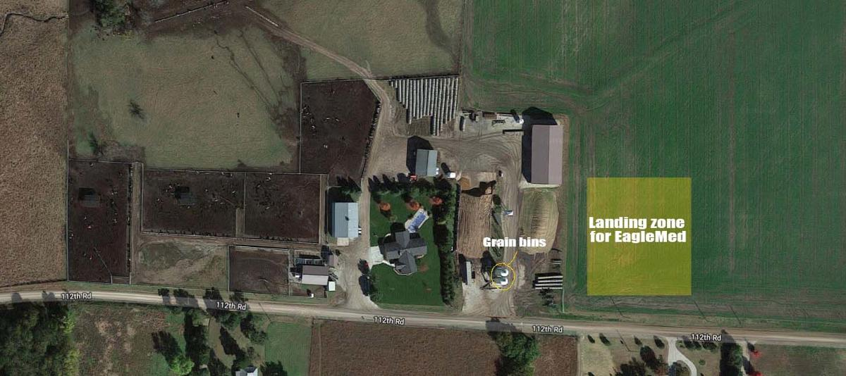 Area man injured after fall from grain bin