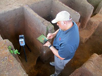 New technology tested at excavation site