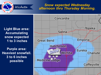 Winter Storm Watch issued for Cowley County