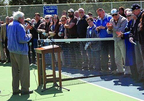 Tennis center expansion gets formal dedication