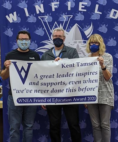 Tamsen receives WNEA Friends of Education award