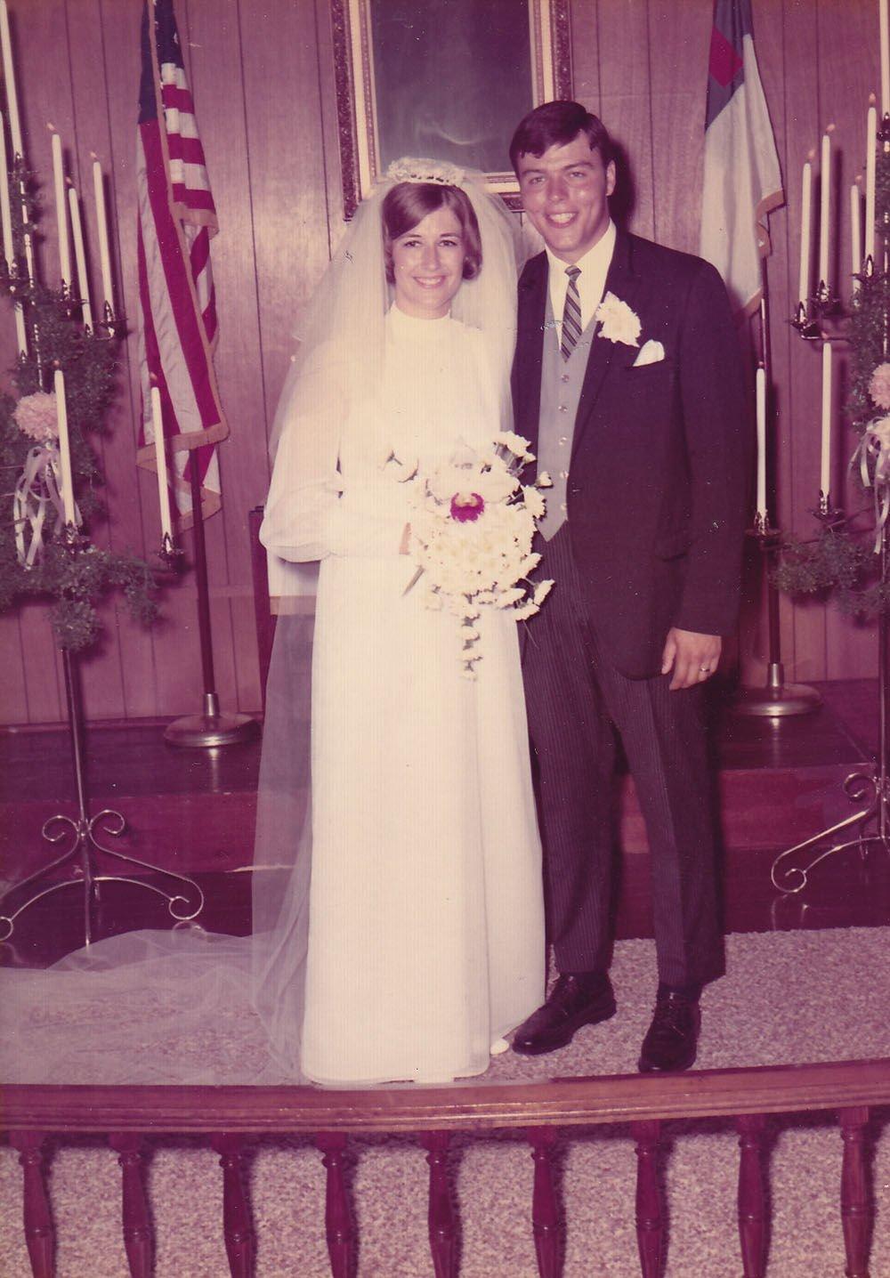 Virginia and Jim Vanek on their wedding day.