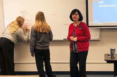 Cowley College GED students participate in workshop
