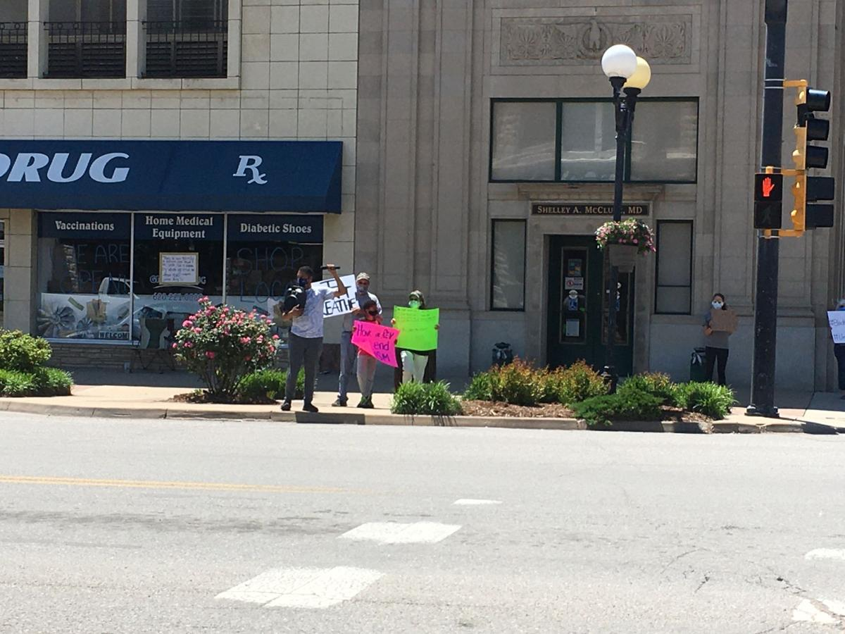 Rally held in Winfield to protest death of Floyd, others
