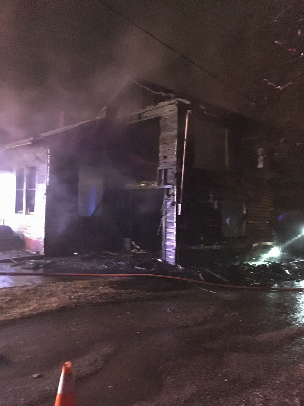 Structure fire in Winfield