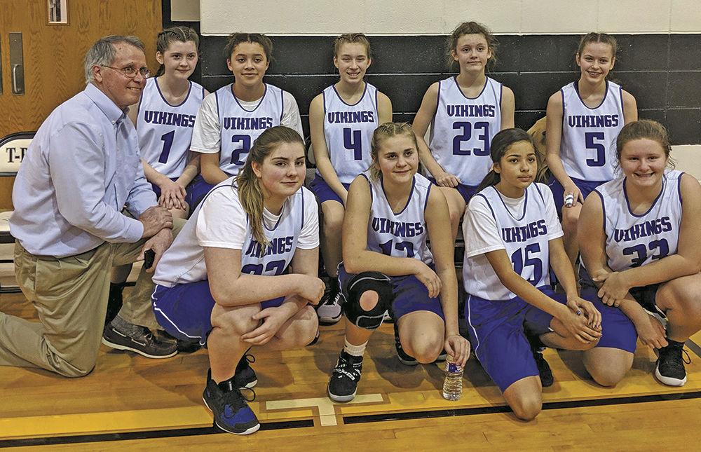 Junior Lady Vikings end hoops season on high note
