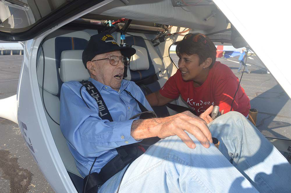 Hospice patient gets flying wish fulfilled