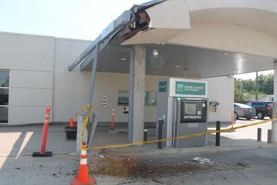 Driver smashes ATM stand, flees scene