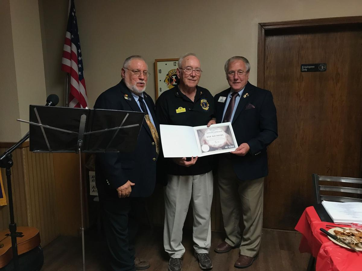 Lions recognized for service
