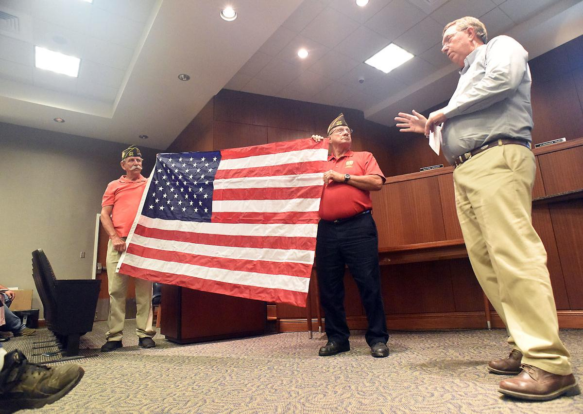 American flag donation