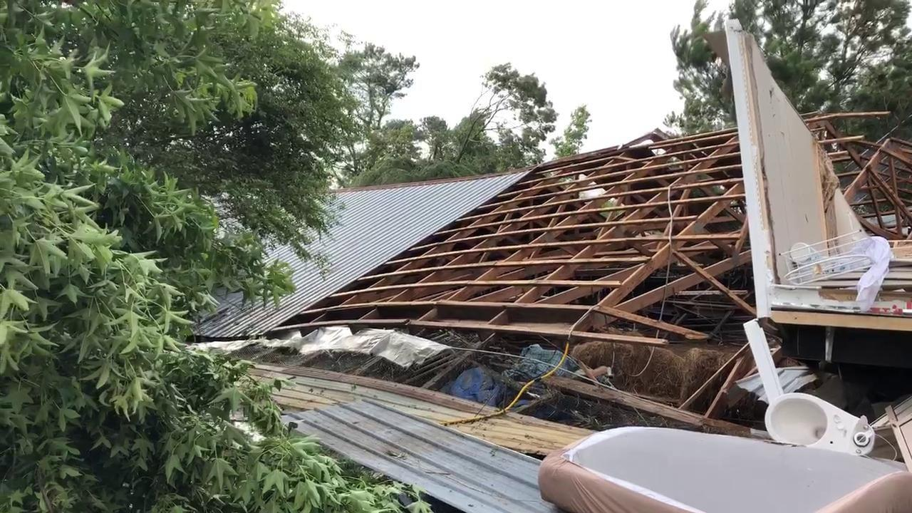 Home Destroyed By Ef2 Tornado On County Road 1091 In Cullman County