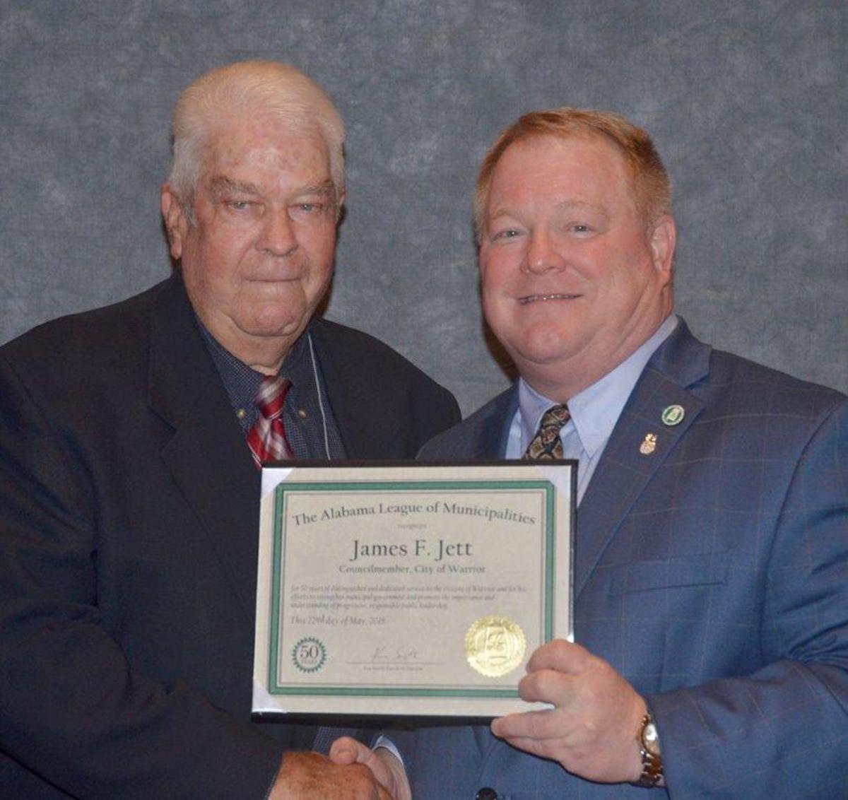 Jett honored for 50 years