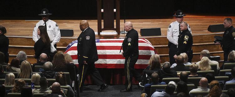 Funeral services held for slain Alabama officer