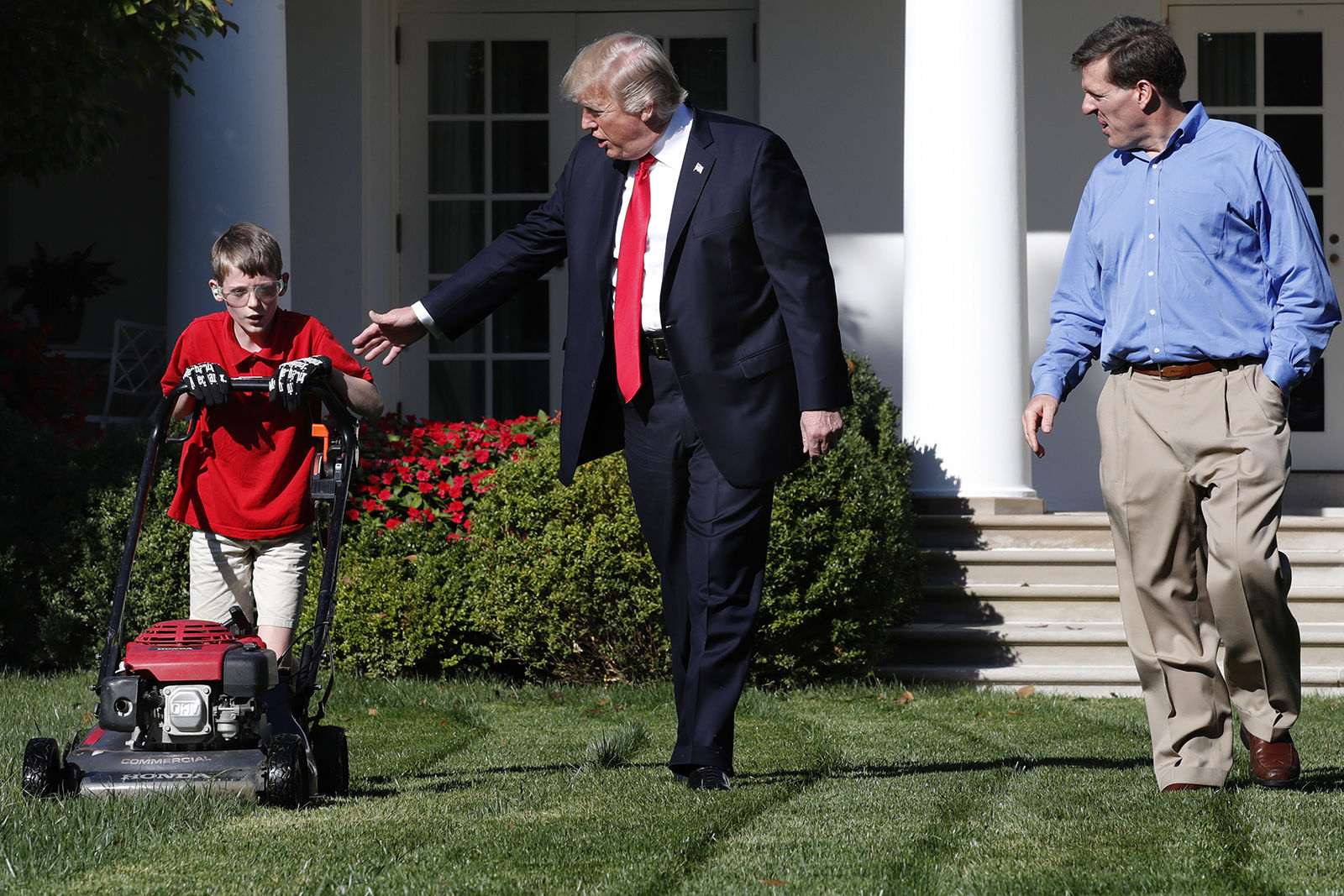 President Trump Greets Young Boy Who Offered To Mow White House Lawn