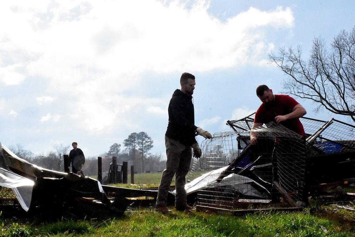 Repairing chicken coop in White City