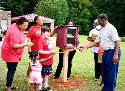 Newest free little library opens in Colony