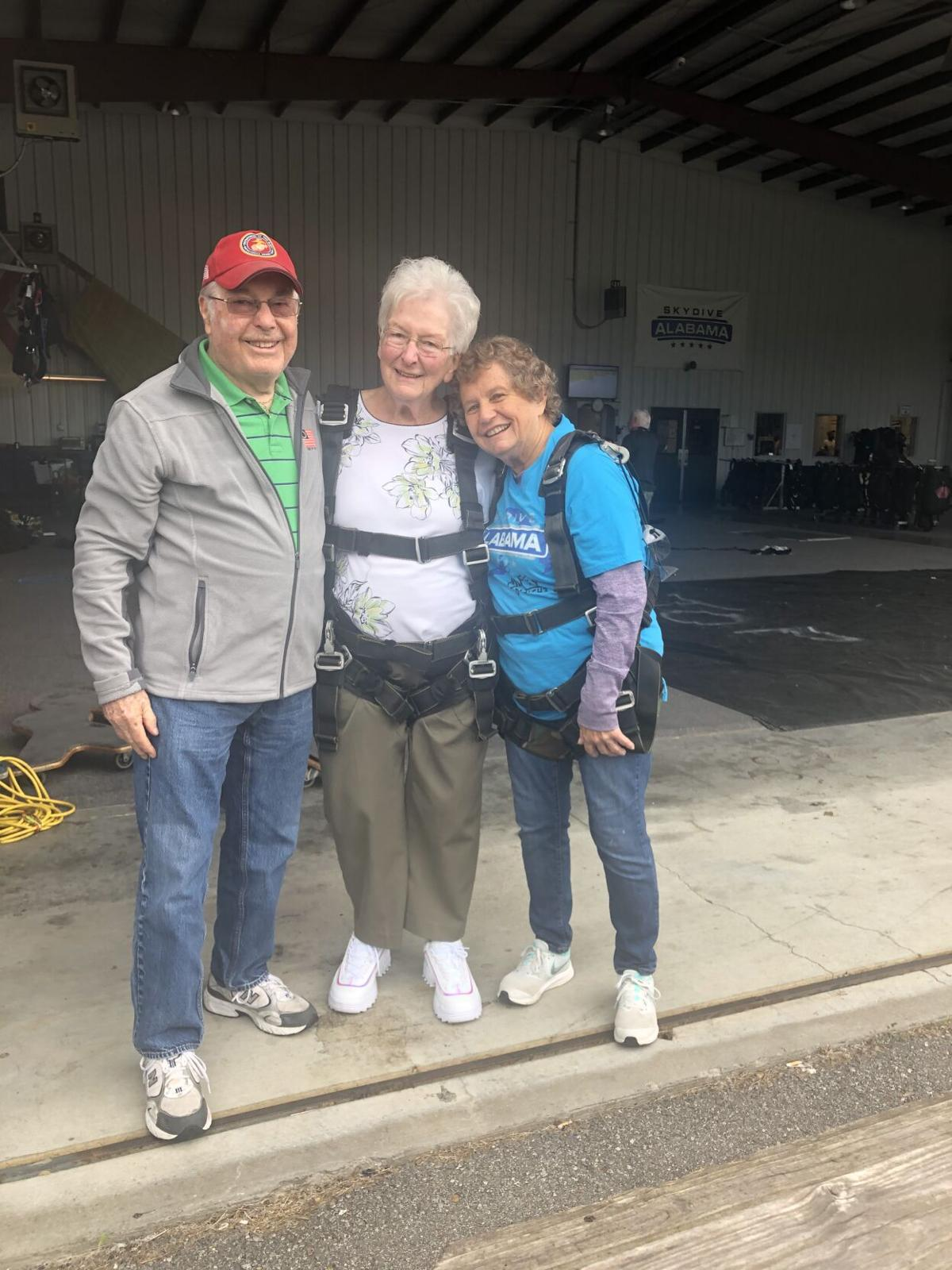 Sue Westerfield jumps on 80th birthday