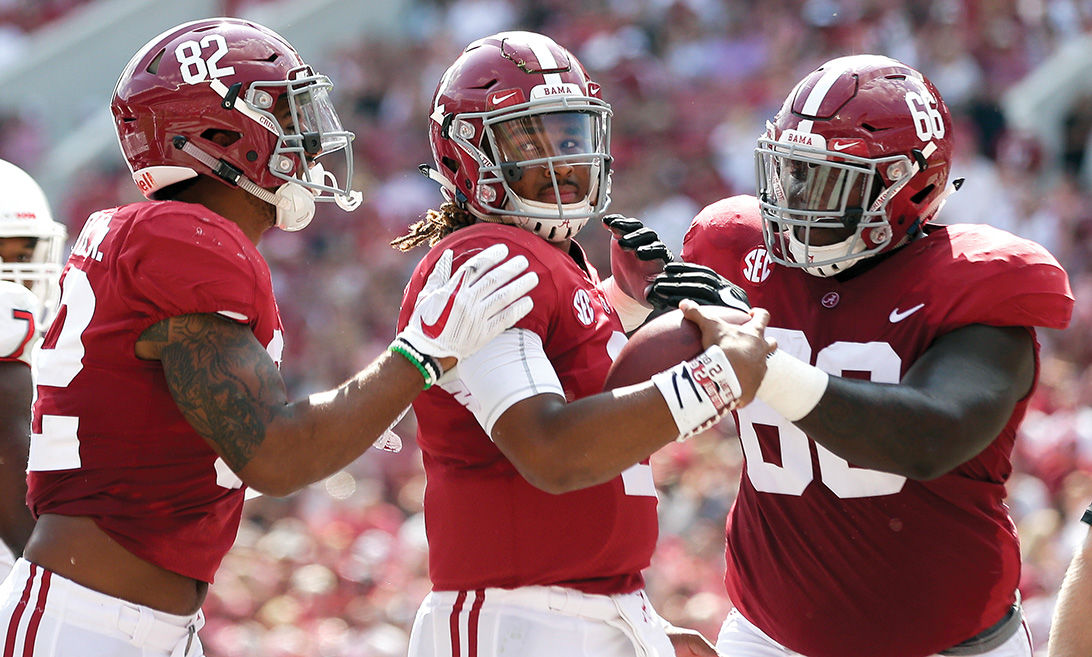 Hurts and No 1 Alabama outlast Colorado State 41-23