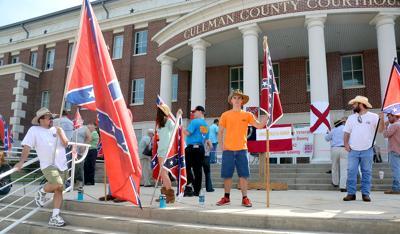 Confederate memorial day rally