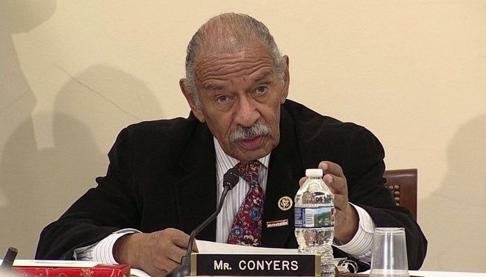 Embattled Rep. Conyers hospitalized; Pelosi says he should resign
