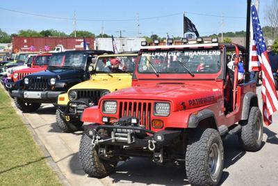 Jeeps at Depot Park on May 2, 2020