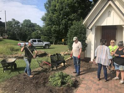 Master Gardeners re-landscape the Richter Chapel grounds