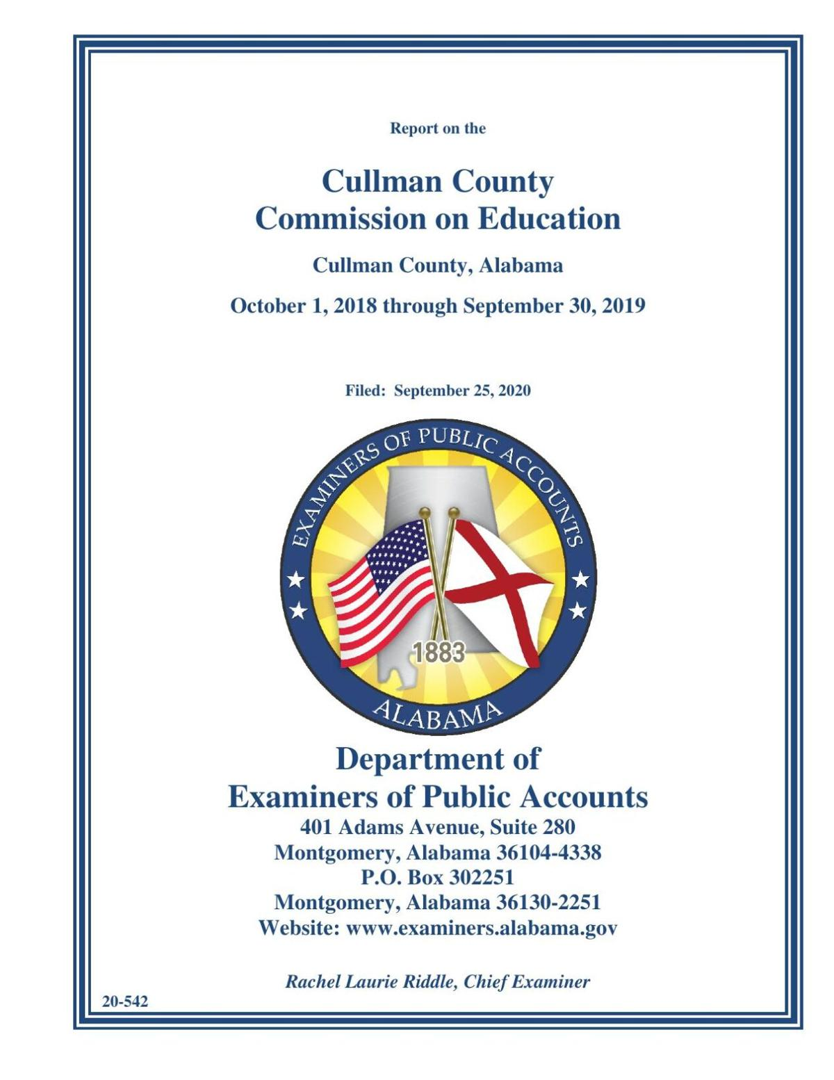 CCBOE Audit Report