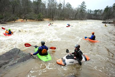 Mulberry Fork kayakers
