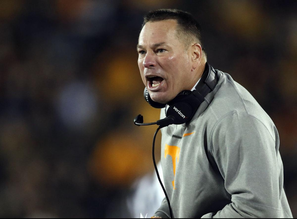Butch Jones out as Tennessee's football coach